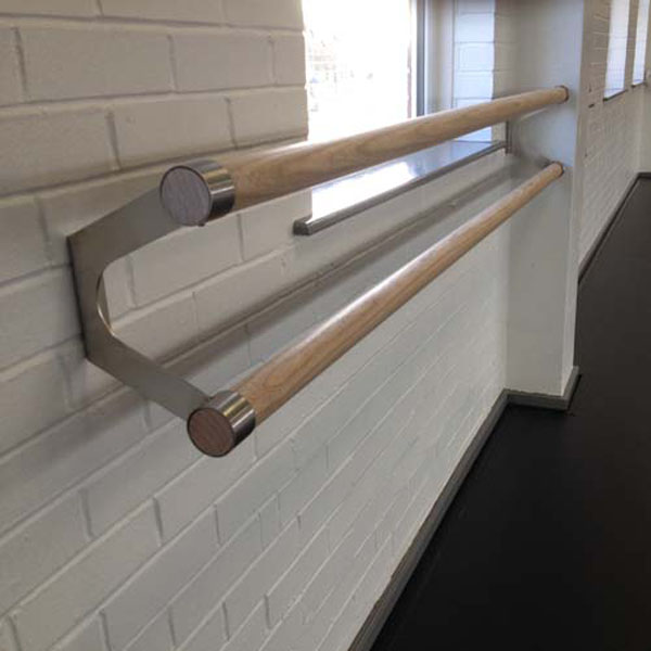 Ash Wood Wall Mounted Ballet Barres (DOUBLE 2.0 metre)