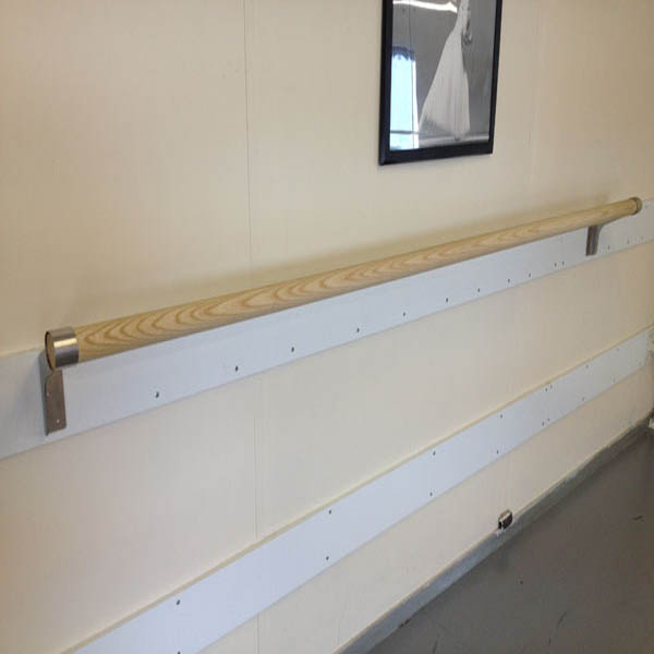 Ash Wood Wall Mounted Ballet Barres (SINGLE 2.0 metre)